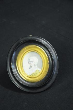 Miniature painting on ivory Damenportrait (TN: Portrait