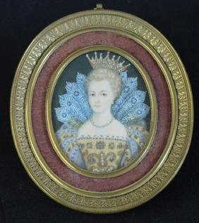 Portrait of Elizabeth I, Queen of England, miniature