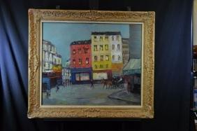 Oil on wood Street scenes, signed Adolfo Carducci. 66 x