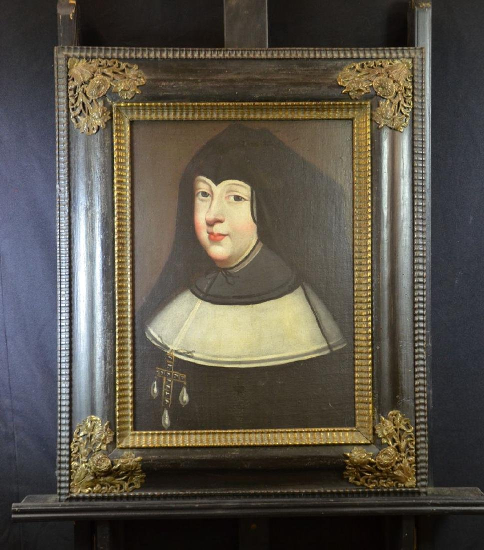 Oil on canvas doubled on a cardboard Anne from Austria