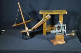 Collection of old clockmakers tools from the 19th
