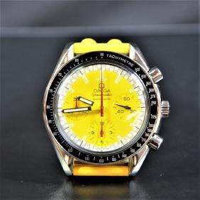Automatic chronograph OMEGA Schumacher. Yellow clock
