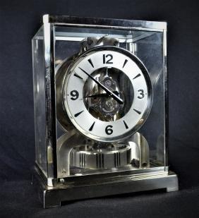 Très rare pendule ATMOS Jaeger-Lecoultre, chromée.