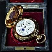 Beautiful pocket watch DemiSavonette in rose gold