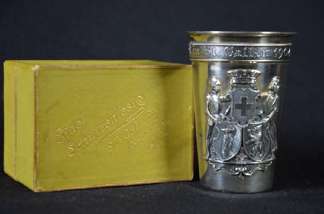 Gobelet de tir St.Gallen, 1904, argent 800, avec sa