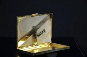 Gilded silver cigarette case