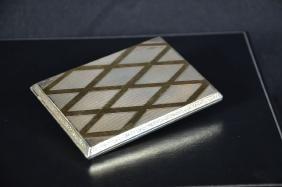 Silver and golden cigarette case