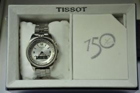 TISSOT Touch wristwatch with box and papers. Diameter