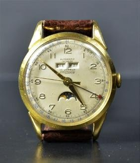 Automatic wristwatch. 10 gilded micron. Triple display