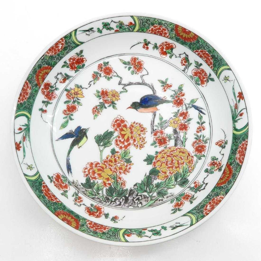 Polychrome Decor Porcelain Plate
