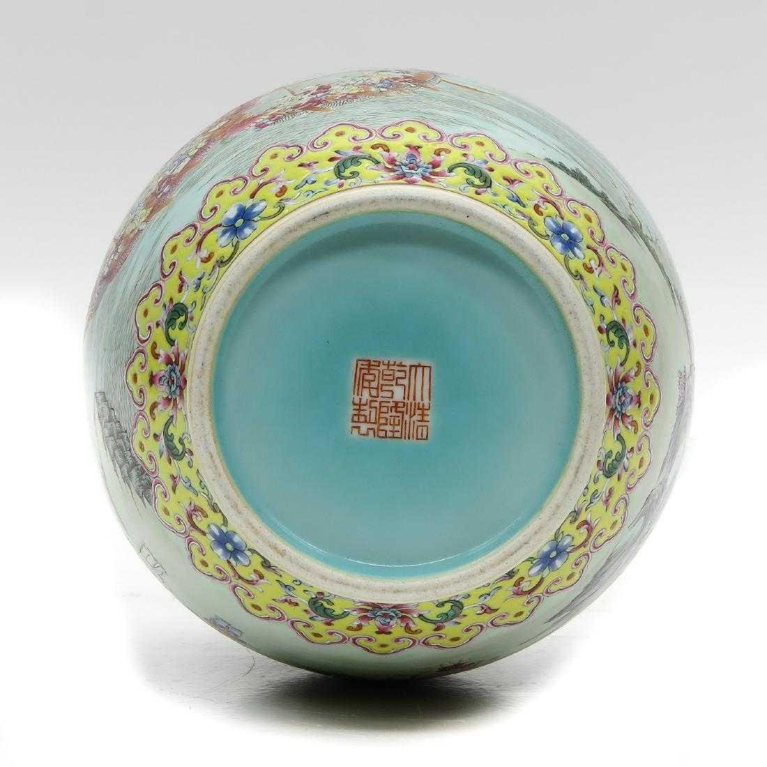 Chinese Famille Rose Enamel Decor Vase - 6