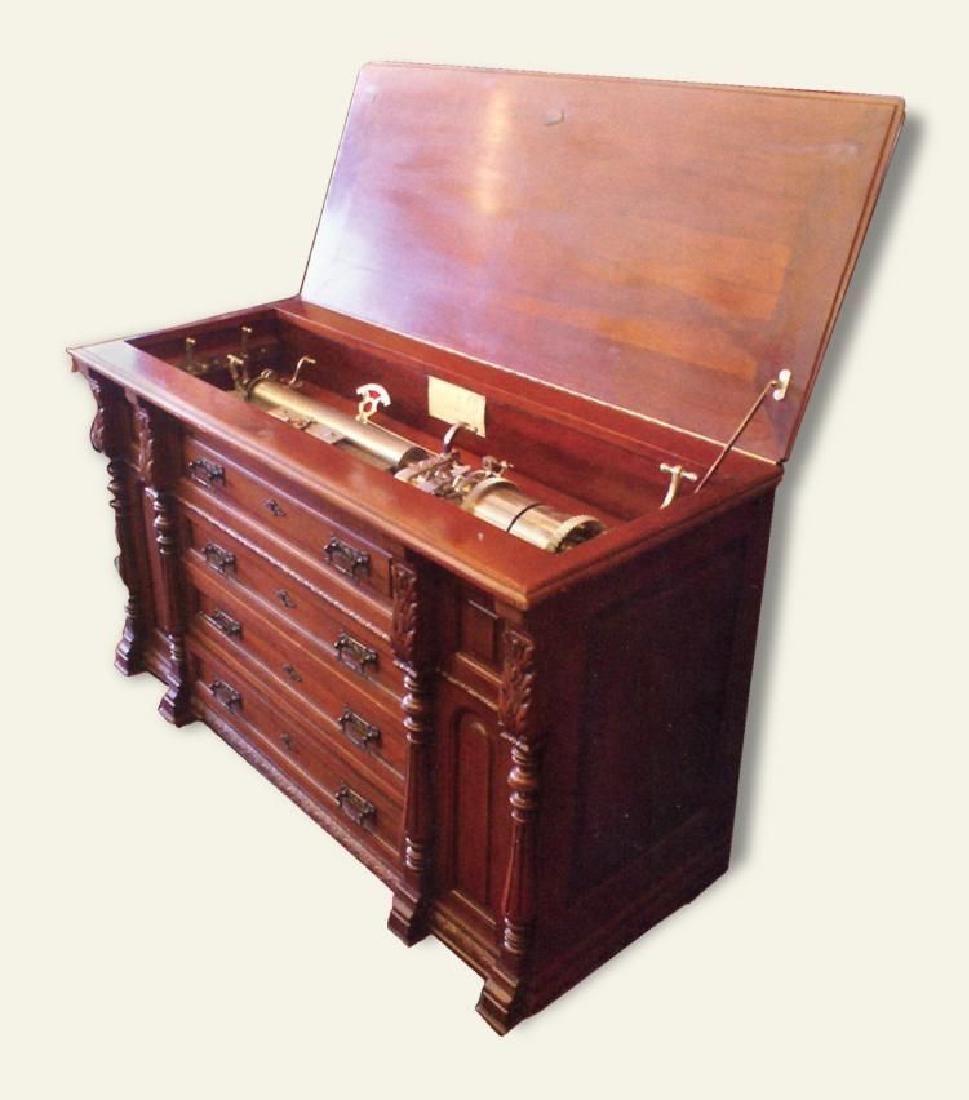 Paillard Cylinder Player in Cabinet