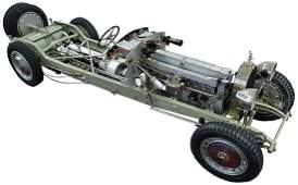 Model of the Chassis of a Bugatti Vintage Car