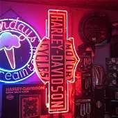 Harley-Davidson Double Sides Harley Logo Neon Sign