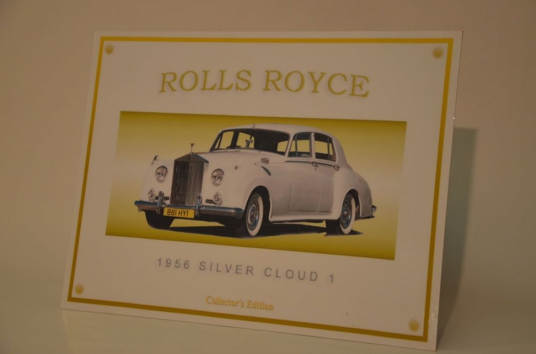 1956 Rolls Royce Silver Cloud Collectable Metal Sign
