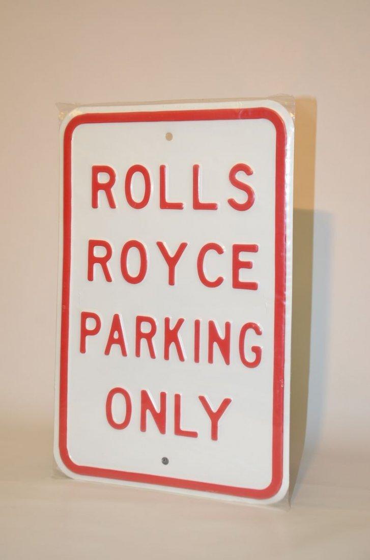 Rolls Royce Parking Plate