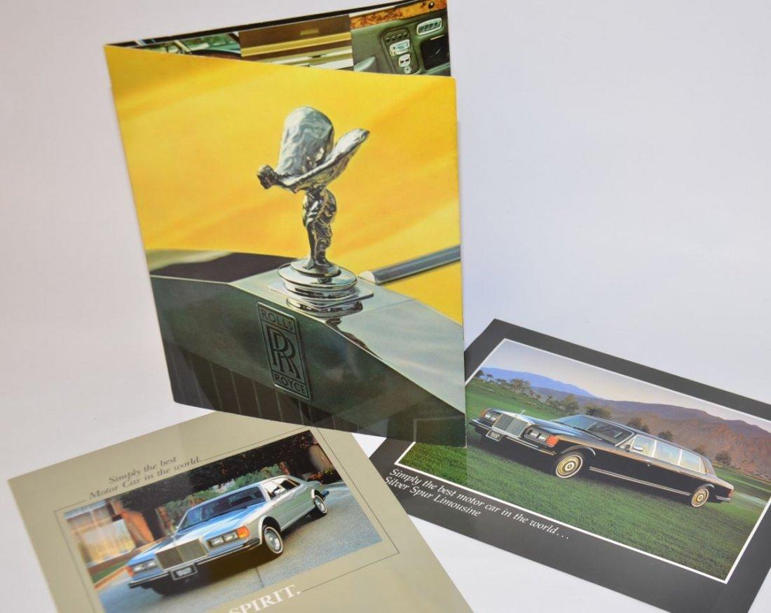 Rolls Royce Silver Spur Limousine dealer brochure