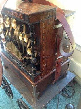 "Very Rare Monkey Barrel Organ ""cornettino"" By Frati,"