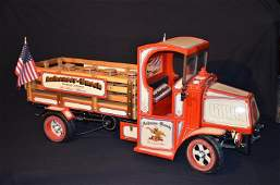 Decorative large scale model of a delivery truck of