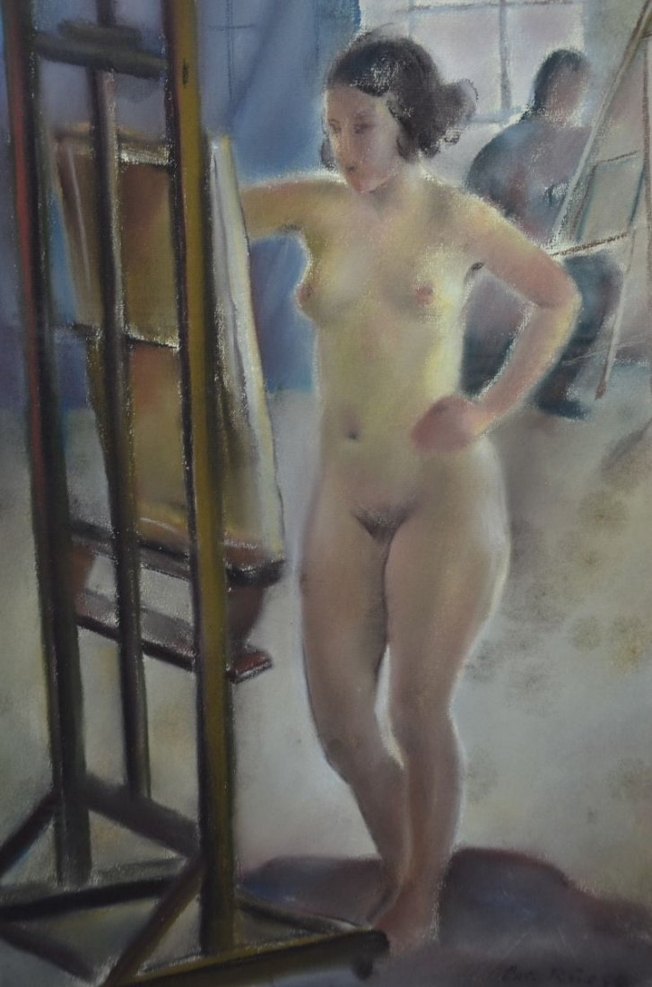 "RUEEGG, Oscar (1896 - 1987), ""Standing Nude Lady"","