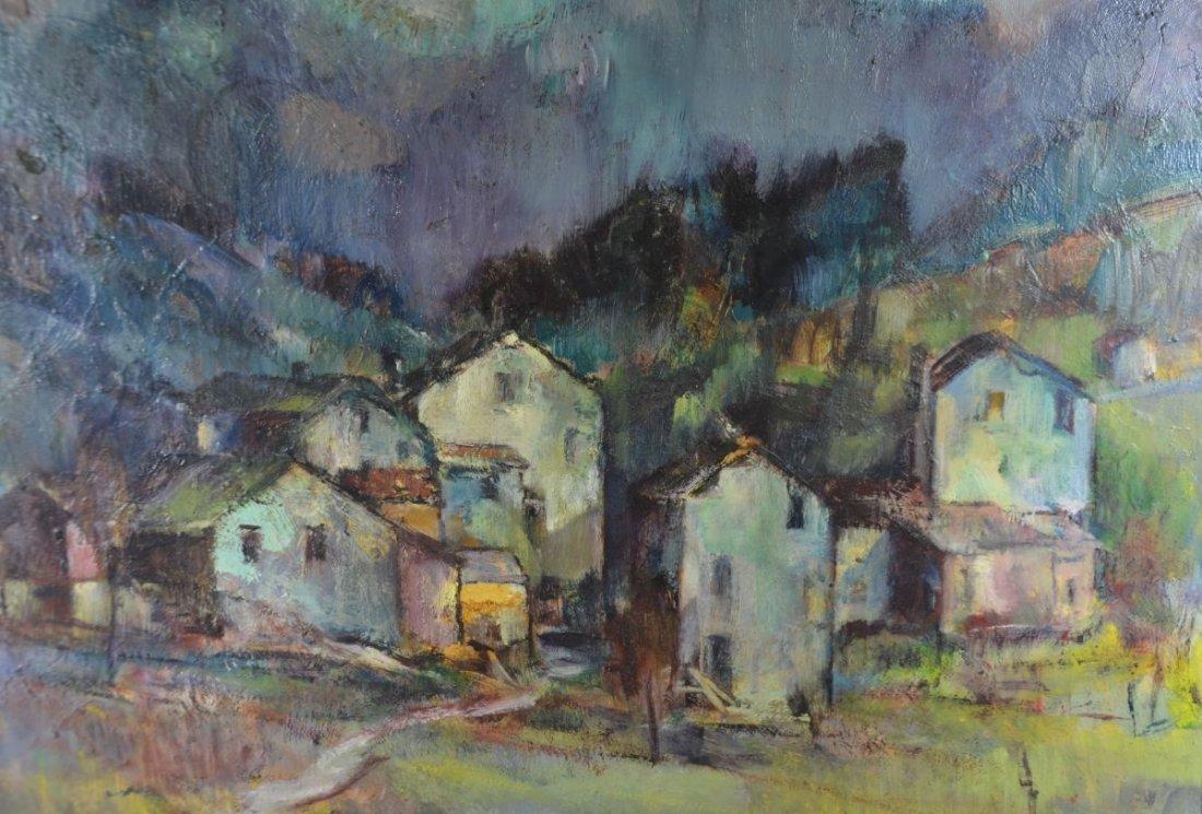 """RUEEGG, Oscar (1896 - 1987), """"Houses of Ticino"""", Oil on"""