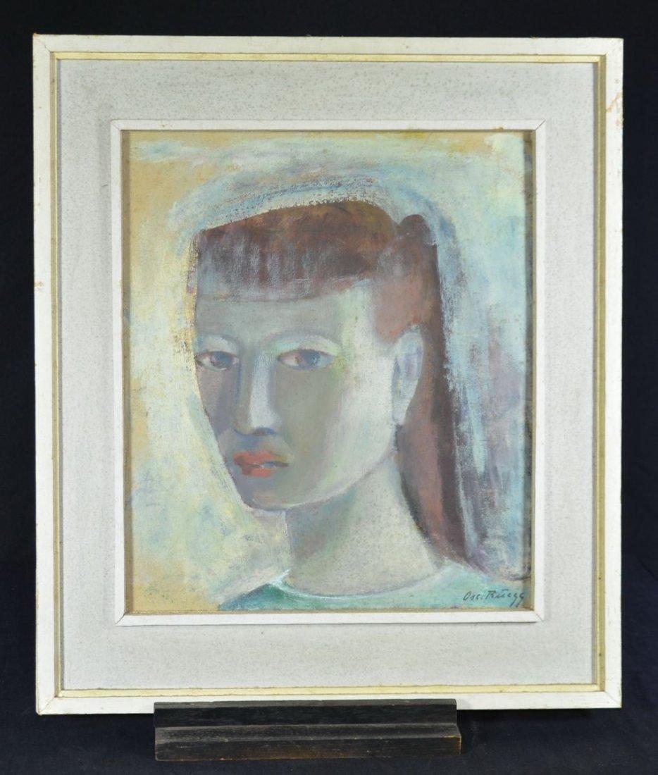 """RUEEGG, Oscar (1896 - 1987), """"Modern Lady"""", Oil on"""