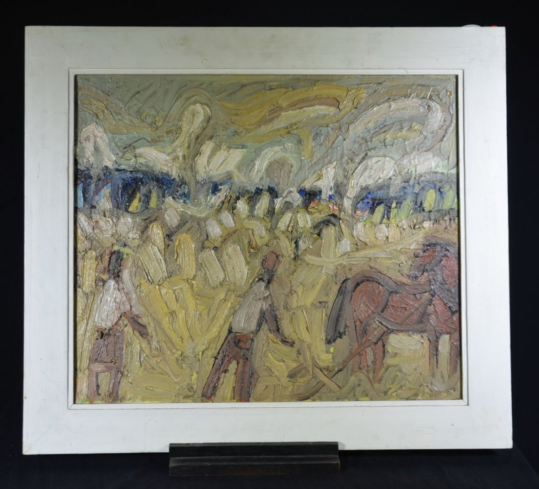 """RUETSCHE, Oskar (1927 St. Gallen), """"Harvesting"""