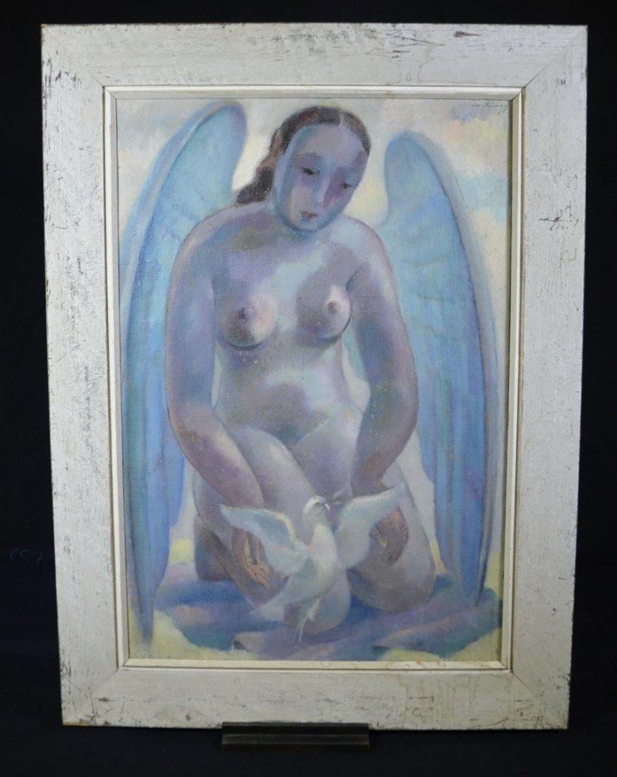 """RUEEGG, Oscar (1896 - 1987), """"Angel of Peace"""", Oil on"""