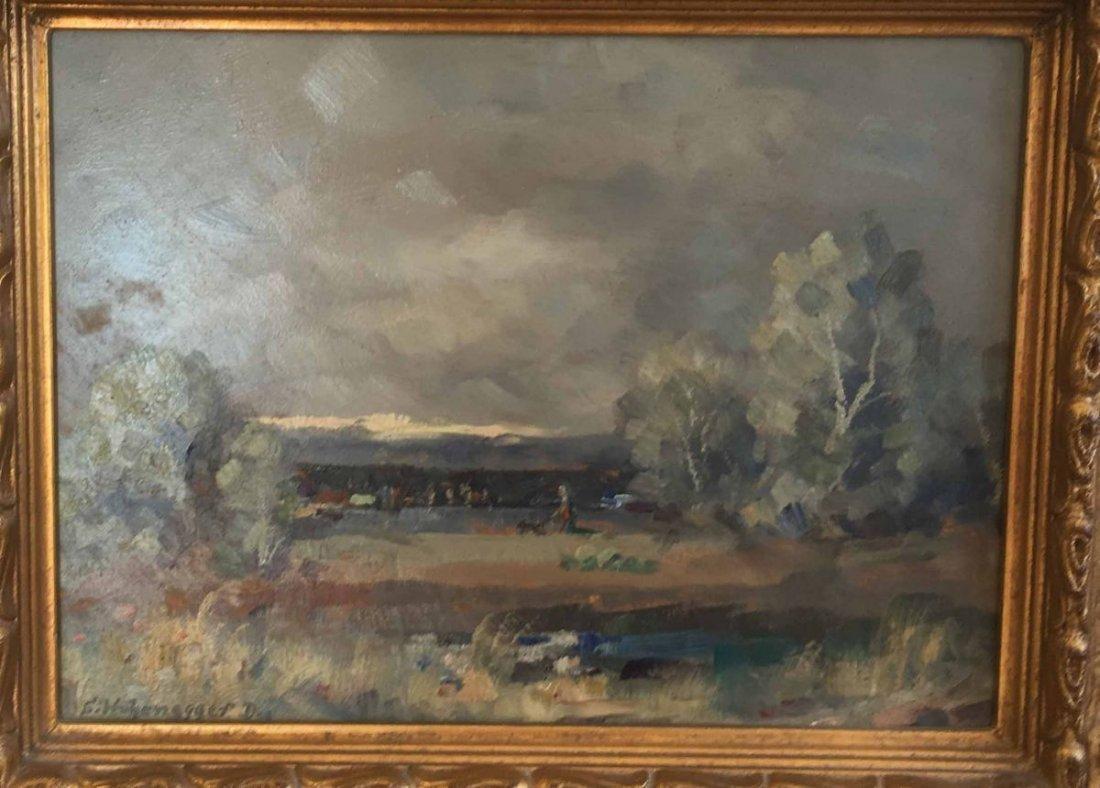 """HOHENEGGER-DACHAU, Simon, """"Landscape near Dachau"""", Oil"""