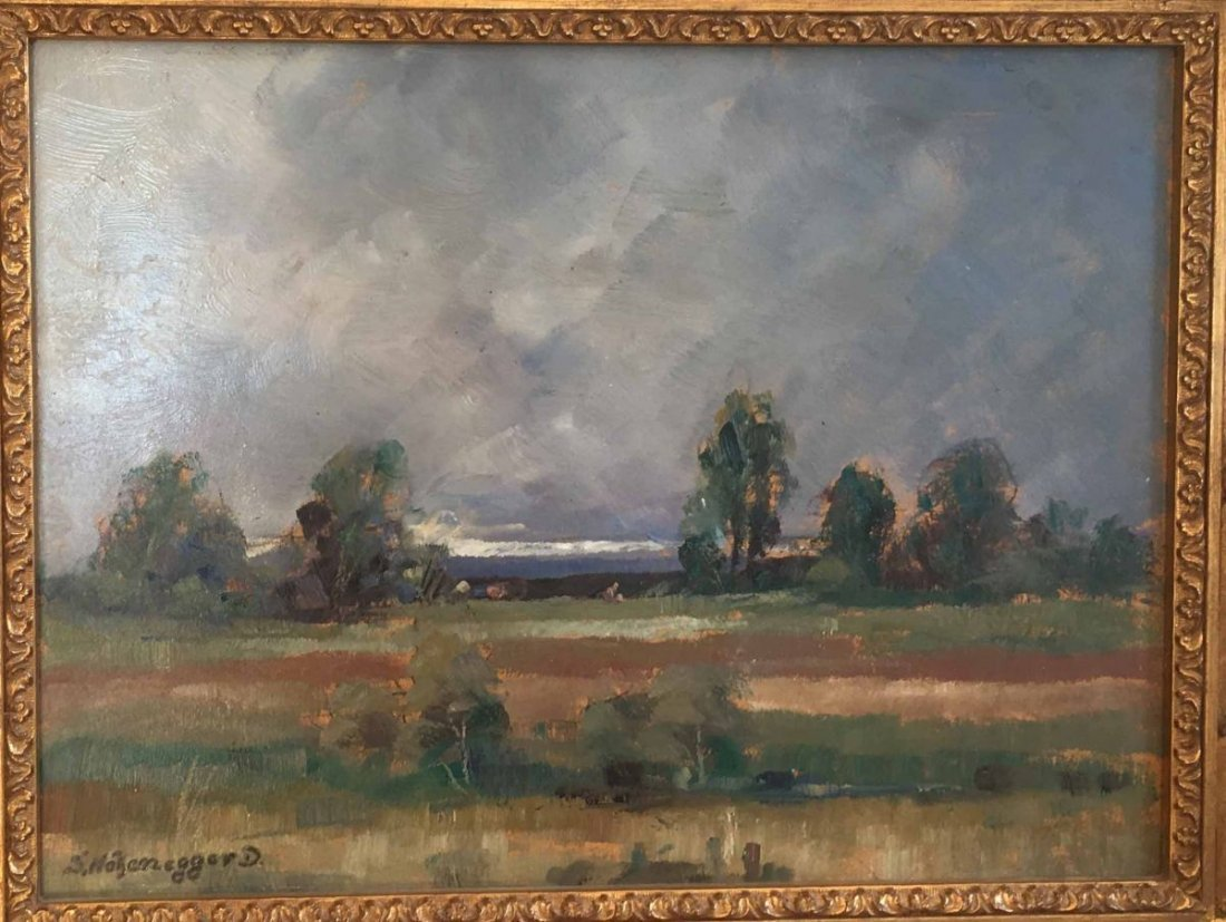 "HOHENEGGER-DACHAU, Simon, ""Landscape with Trees"", Oil"