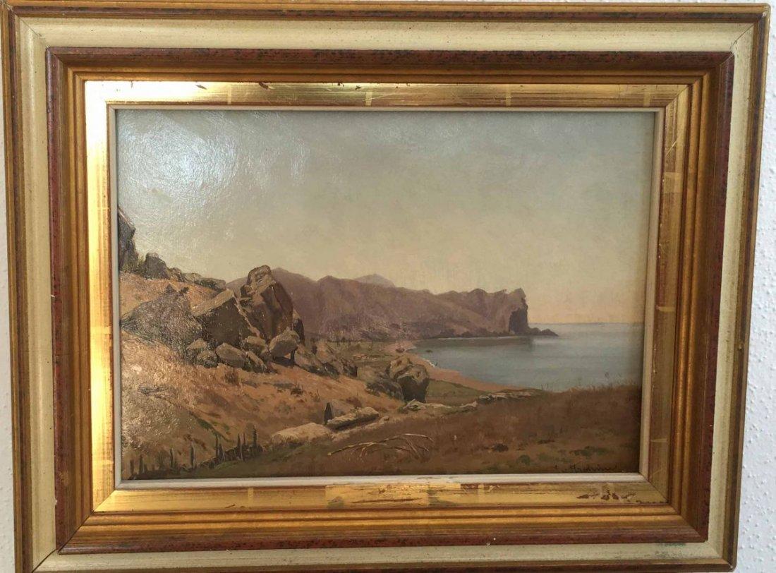 "TRETMANN, S. v. (XX), ""At the Coast"", Oil impasto on"