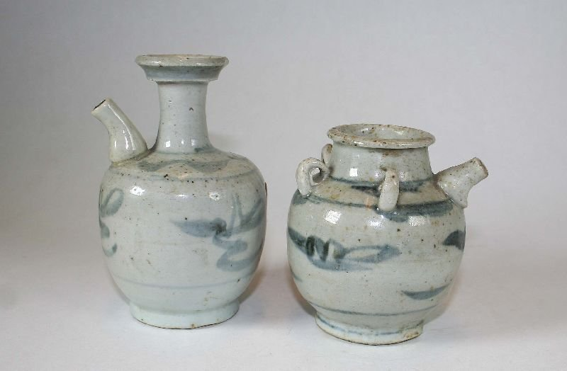 Miscellany of Two Pots for oils, soy sauce or essences.