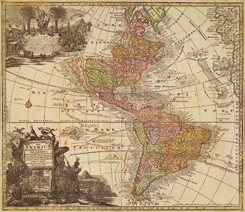 405: Amerika (Seutter): Novus orbis sive America