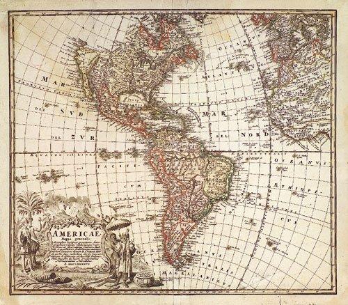 406: Amerika (Homann Erben): Americae Mappa generalis