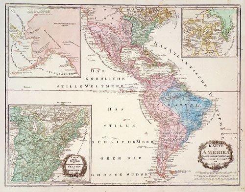 408: Amerika (Reilly): Karte von Amerika