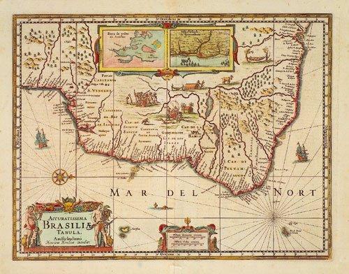 417: Brasilien (Hondius): Accuratissima Brasiliae tabul