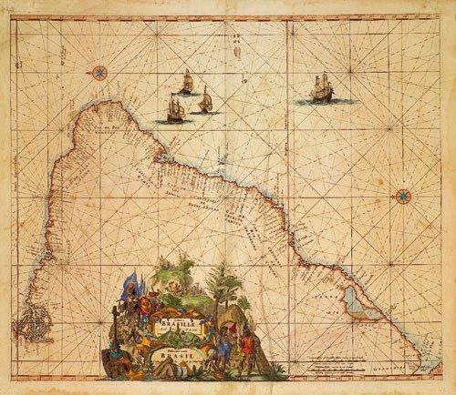 419: Brasilien (De Wit): Littora Brasiliae