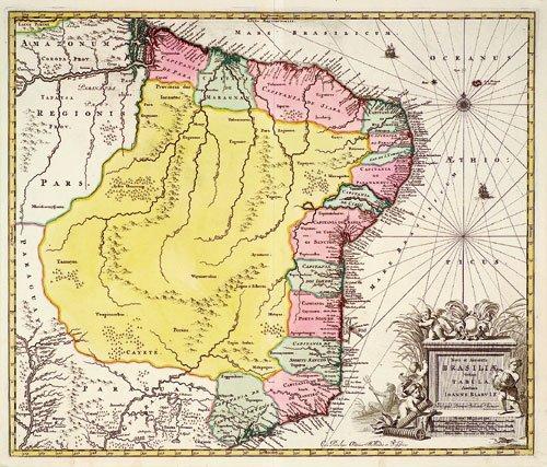 421: Brasilien (Blaeu/Schenk): Nova et accurata Brasili