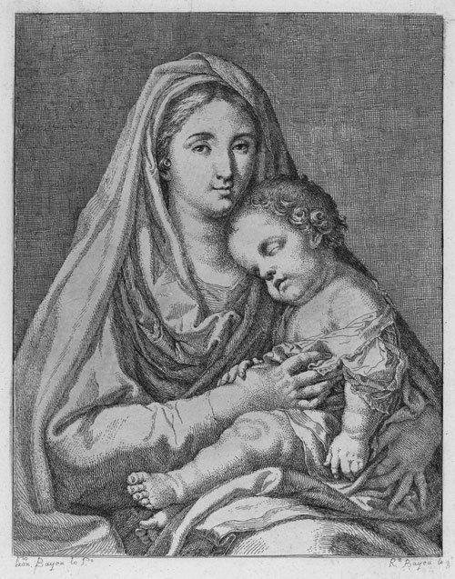 5328: Bayeu y Subias, Ramon: Madonna mit Kind