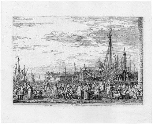 5341: Canaletto: Il Mercato sul Molo