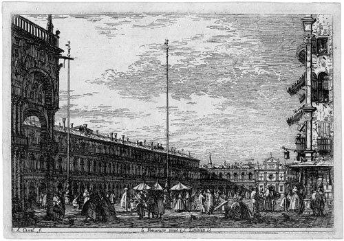 5342: Canale, Antonio: Le Procuratie Niove e S. Ziminia