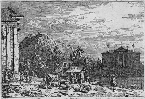 5343: Canaletto: Der Markt in Dolo