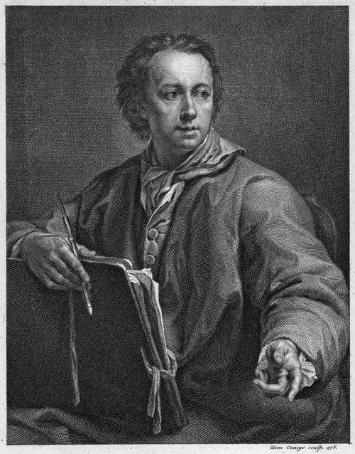 5348: Cunego, Domenico: Bildnis Johann Rapael Mengs