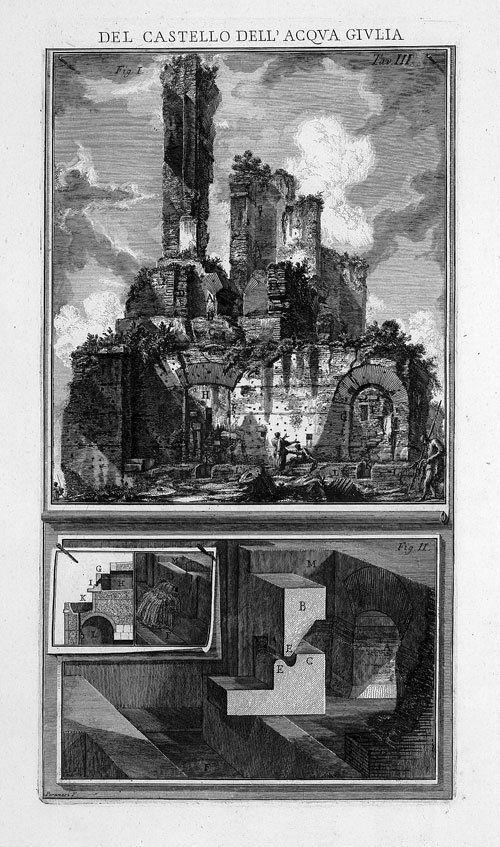 5424: Piranesi, Giovanni Battista: Le Rovine del Castel