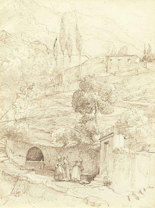 5637: Bendemann, Eduard: Frauen an einem Brunnen bei Go