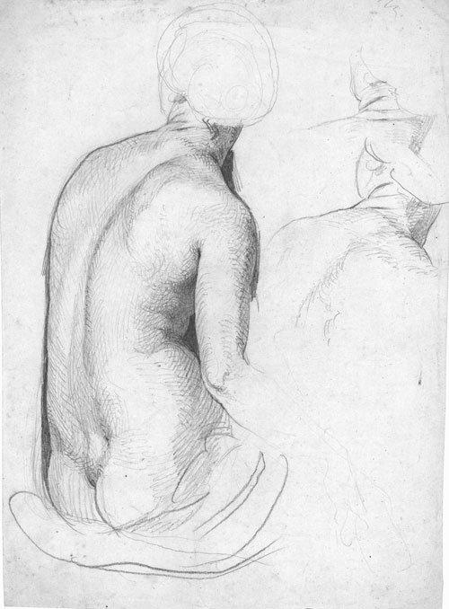 5639: Bendemann, Eduard: Figurenstudien für Wandgemälde
