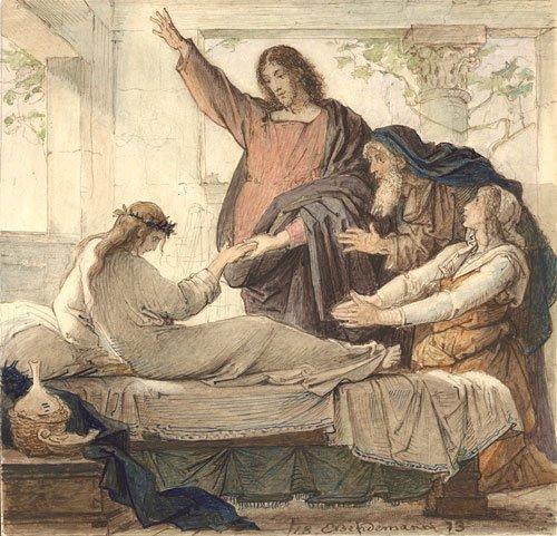 5640: Bendemann, Eduard Julius Friedrich: Christus als