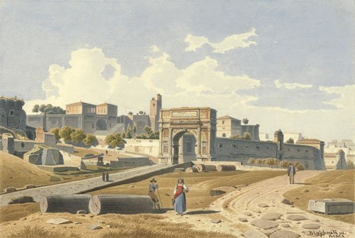 5641: Blaschnik, Arthur: Blick über das Forum Romanum