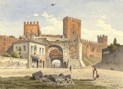5643: Blaschnik, Arthur: Blick auf die Porta S. Lorenzo
