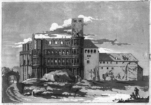 5772: Ramboux, J. A. : Die Porta Nigra in Trier